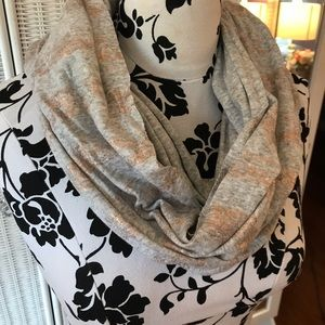 GRAY & COPPER FOIL GAP INFINITY SCARF